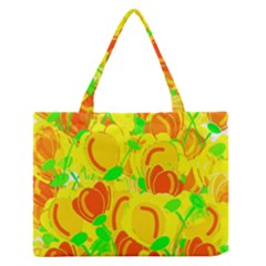 Yellow Garden Medium Zipper Tote Bag by Valentinaart