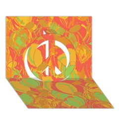 Orange Garden Peace Sign 3d Greeting Card (7x5) by Valentinaart