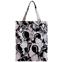 Black And White Garden Zipper Classic Tote Bag by Valentinaart