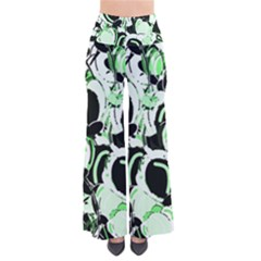 Green Abstract Garden Pants by Valentinaart