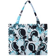 Blue Abstract  Garden Mini Tote Bag by Valentinaart