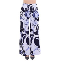 Blue Abstract Floral Design Pants by Valentinaart