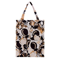 Orange Abstract Garden Classic Tote Bag by Valentinaart
