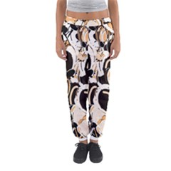 Orange Abstract Garden Women s Jogger Sweatpants by Valentinaart
