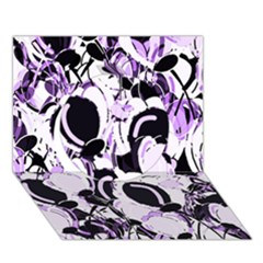 Purple Abstract Garden Circle 3d Greeting Card (7x5) by Valentinaart