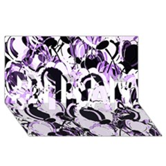 Purple Abstract Garden #1 Dad 3d Greeting Card (8x4)