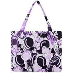 Purple Abstract Garden Mini Tote Bag by Valentinaart