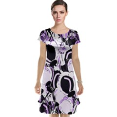 Purple Abstract Garden Cap Sleeve Nightdress