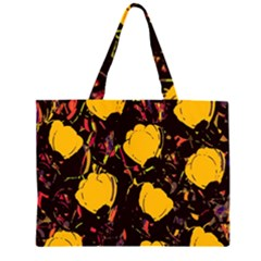 Yellow Roses  Zipper Large Tote Bag by Valentinaart