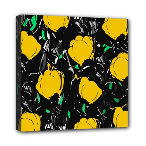Yellow Roses 2 Mini Canvas 8  X 8  by Valentinaart