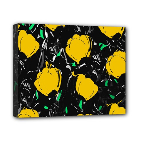 Yellow Roses 2 Canvas 10  X 8  by Valentinaart