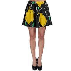 Yellow Roses 2 Skater Skirt by Valentinaart