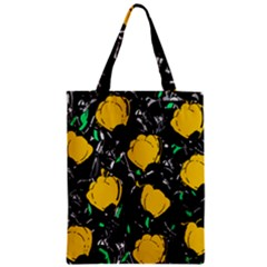 Yellow Roses 2 Zipper Classic Tote Bag by Valentinaart