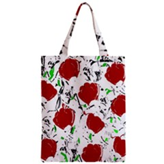 Red Roses 2 Zipper Classic Tote Bag by Valentinaart
