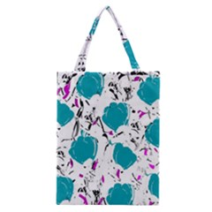 Cyan Roses Classic Tote Bag by Valentinaart