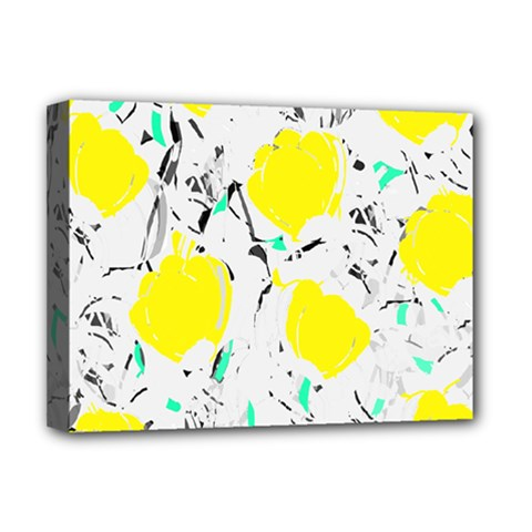Yellow Roses 2 Deluxe Canvas 16  X 12   by Valentinaart