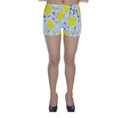 Yellow Roses 2 Skinny Shorts by Valentinaart
