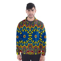 Yellow Flower Mandala Wind Breaker (men) by designworld65