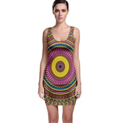 Ornament Mandala Sleeveless Bodycon Dress by designworld65
