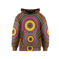 Ornament Mandala Kids  Pullover Hoodie by designworld65