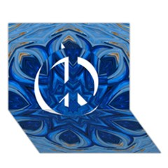 Blue Blossom Mandala Peace Sign 3d Greeting Card (7x5) by designworld65