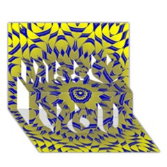 Yellow Blue Gold Mandala Miss You 3d Greeting Card (7x5) by designworld65