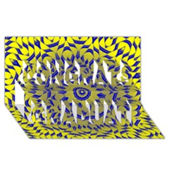 Yellow Blue Gold Mandala Congrats Graduate 3d Greeting Card (8x4) by designworld65