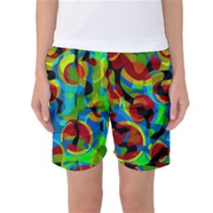 Colorful Smoothie  Women s Basketball Shorts by Valentinaart