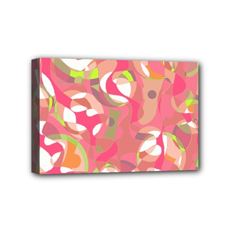 Pink Smoothie  Mini Canvas 6  X 4  by Valentinaart