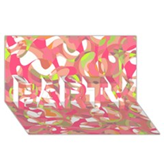 Pink Smoothie  Party 3d Greeting Card (8x4) by Valentinaart