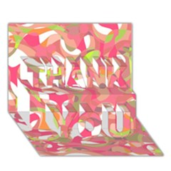 Pink Smoothie  Thank You 3d Greeting Card (7x5)
