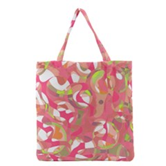 Pink Smoothie  Grocery Tote Bag by Valentinaart