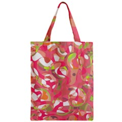 Pink Smoothie  Zipper Classic Tote Bag by Valentinaart