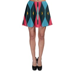 Triangles Stripes And Other Shapes                                                                                                         Skater Skirt by LalyLauraFLM