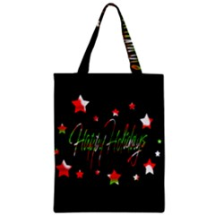 Happy Holidays 2  Zipper Classic Tote Bag by Valentinaart