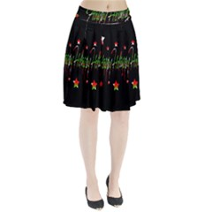 Happy Holidays 2  Pleated Skirt by Valentinaart