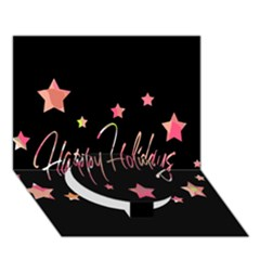 Happy Holidays 3 Circle Bottom 3d Greeting Card (7x5) by Valentinaart