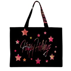 Happy Holidays 3 Zipper Mini Tote Bag by Valentinaart