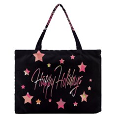 Happy Holidays 3 Medium Zipper Tote Bag by Valentinaart