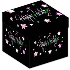 Happy Holidays 5 Storage Stool 12   by Valentinaart