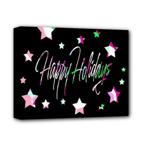 Happy Holidays 5 Deluxe Canvas 14  X 11  by Valentinaart
