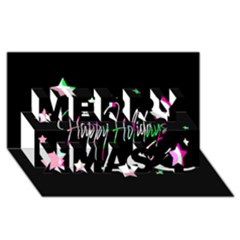 Happy Holidays 5 Merry Xmas 3d Greeting Card (8x4) by Valentinaart