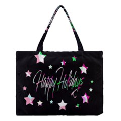 Happy Holidays 5 Medium Tote Bag by Valentinaart