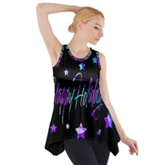 Happy Holidays 6 Side Drop Tank Tunic by Valentinaart