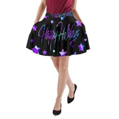 Happy Holidays 6 A-line Pocket Skirt by Valentinaart