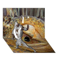 Dragon Slayer Apple 3d Greeting Card (7x5) by icarusismartdesigns