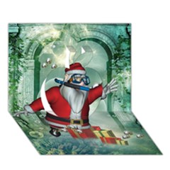 Funny Santa Claus In The Underwater World Apple 3d Greeting Card (7x5) by FantasyWorld7