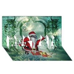 Funny Santa Claus In The Underwater World Best Sis 3d Greeting Card (8x4) by FantasyWorld7