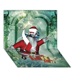 Funny Santa Claus In The Underwater World Ribbon 3d Greeting Card (7x5) by FantasyWorld7