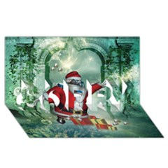 Funny Santa Claus In The Underwater World Sorry 3d Greeting Card (8x4) by FantasyWorld7